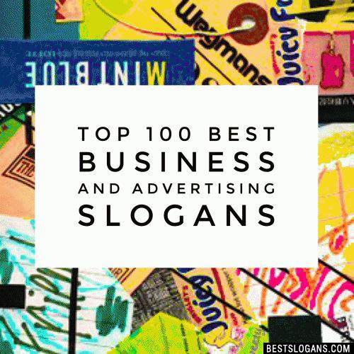 Popular Advertising Slogans For Business