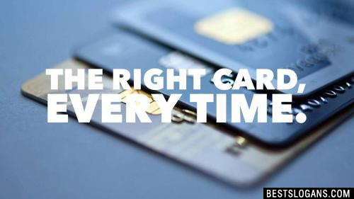 The right card, every time. -Post Office Credit Card
