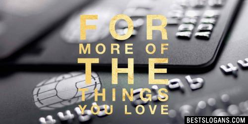 For more of the things you love. -M&S Credit Card