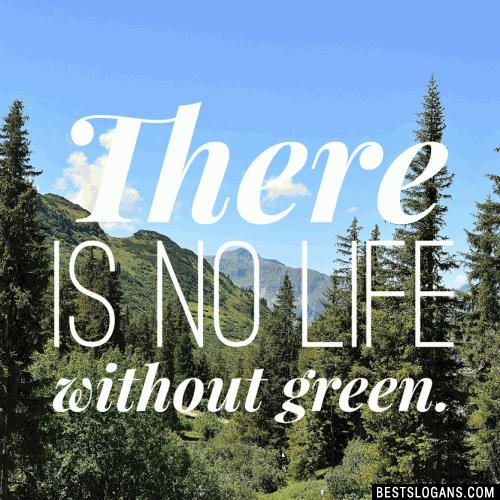 There is no life without green.