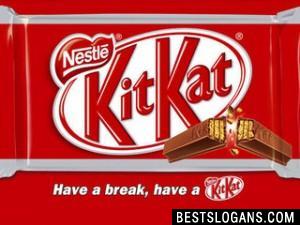 Have a break. Have a Kit-Kat.