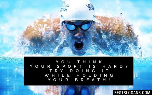 You think your sport is hard? Try doing it while holding your breath!