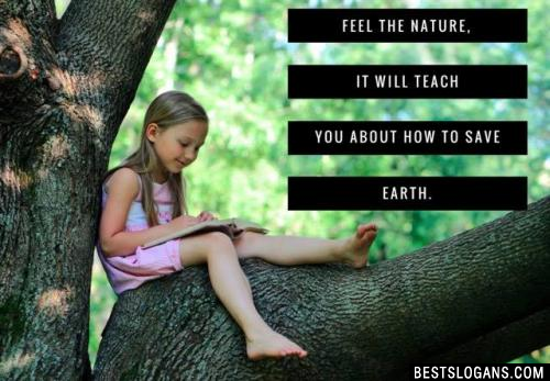 Feel the nature, it will teach you about how to save earth.
