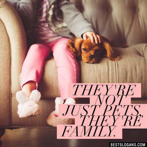 They're not just pets, they're family.