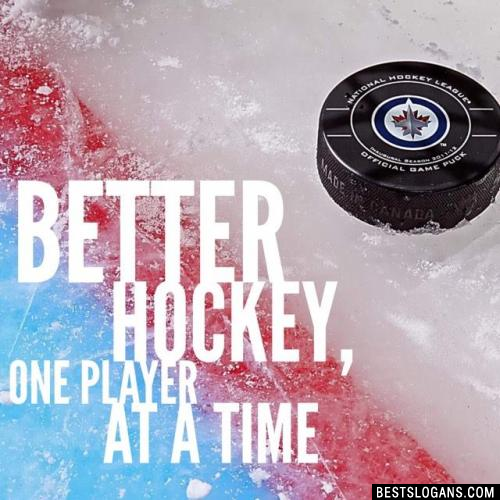 Better hockey, One player at a time