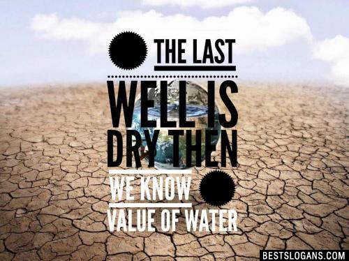 When the last well is dry then we know the value of water
