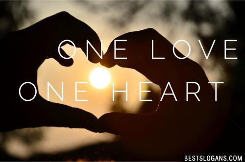 One love, one heart.