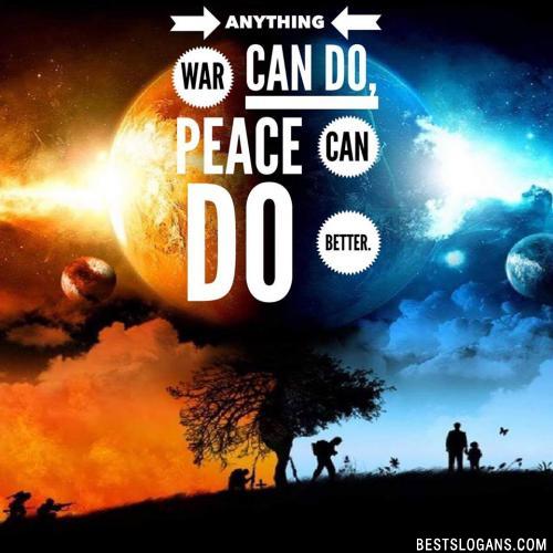 60+ Amazing Peace & World Peace Slogans & Sayings in English