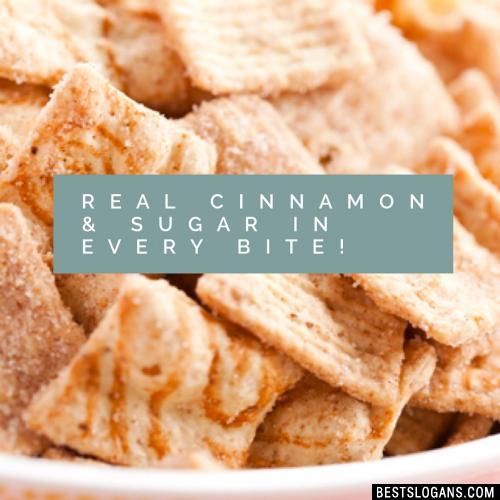 Real cinnamon & sugar in every bite!