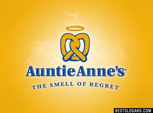 Auntie Anne's: The smell of regret.