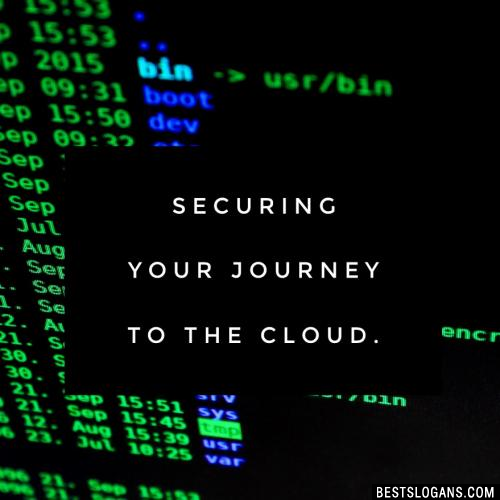 Securing your journey to the cloud.