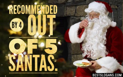 Recommended by 4 out of 5 Santas.