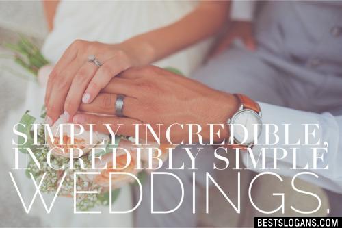 Simply incredible, incredibly simple weddings.