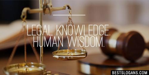 Legal Knowledge. Human Wisdom.