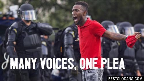 Many voices, one plea