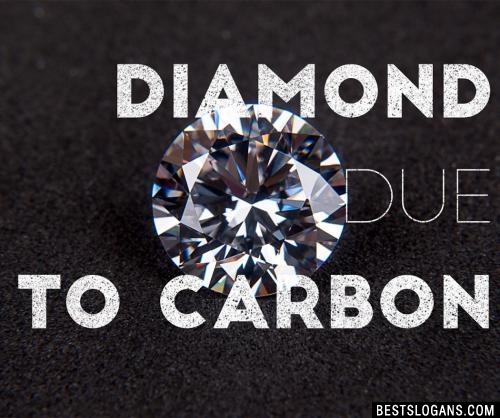 Diamond due to Carbon