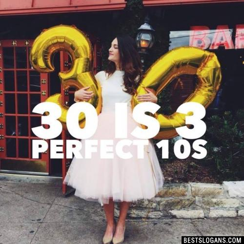 30 is 3 perfect 10s