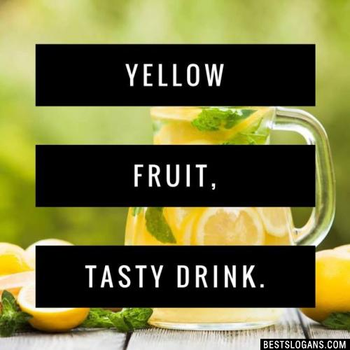 Yellow fruit, tasty drink.