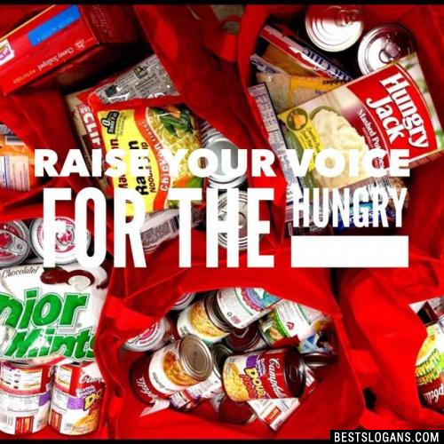 Raise Your Voice for the Hungry