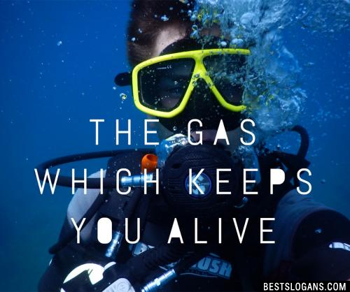 The gas which keeps you alive