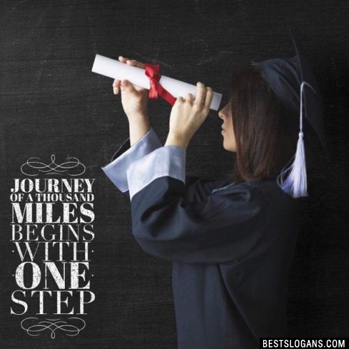 Journey of a thousand miles begins with one step