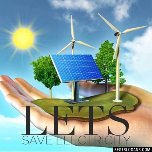 Lets save electricity
