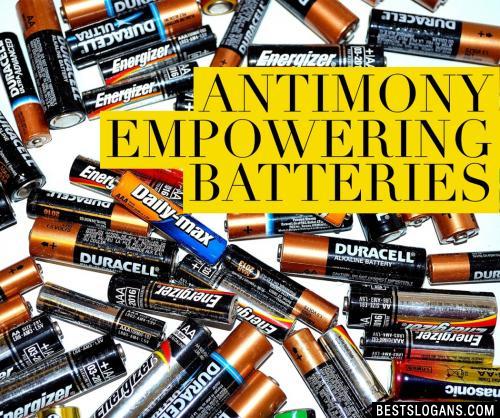Antimony empowering batteries