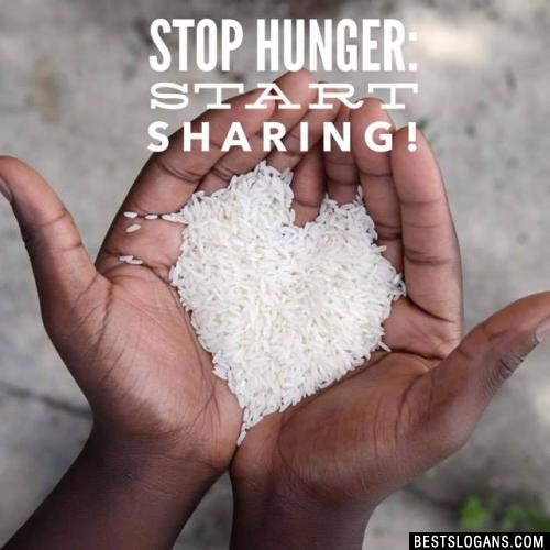 Stop hunger: start sharing!