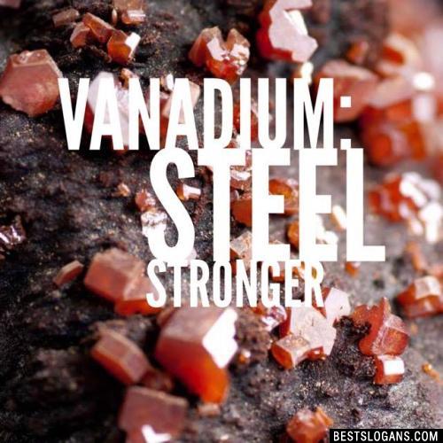Vanadium: Steel Stronger