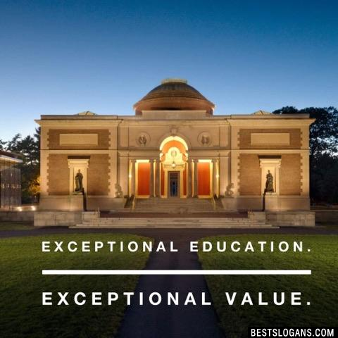 Exceptional Education. Exceptional Value.