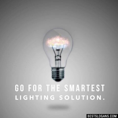 Go For The Smartest Lighting Solution.
