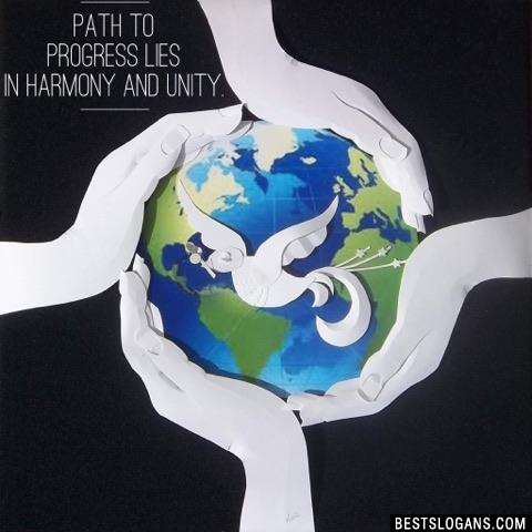 Path to progress lies in harmony and unity.