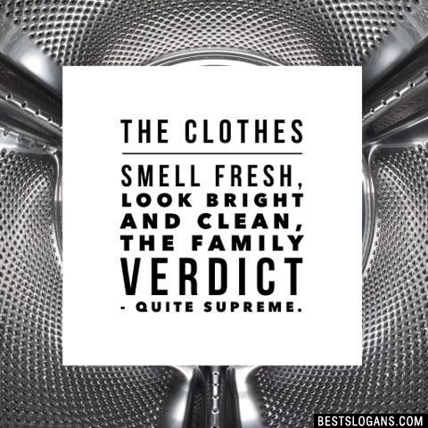 The clothes smell fresh, look bright and clean, the family verdict - quite supreme.