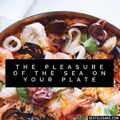 The pleasure of the sea on your plate