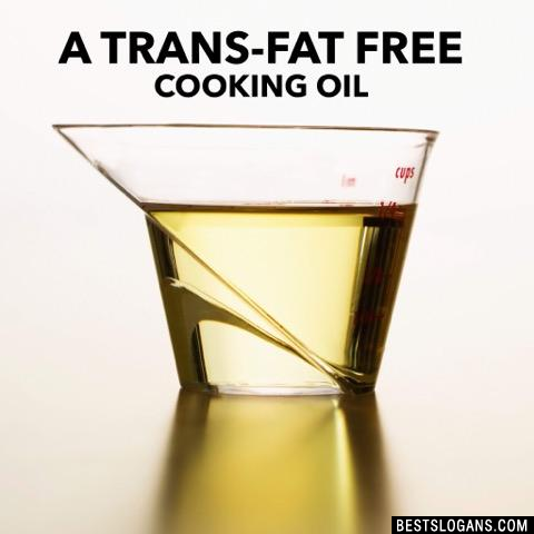 A trans-fat free cooking oil