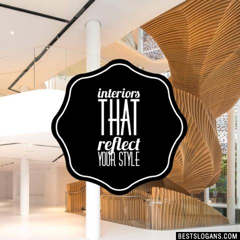Interiors that reflect your style