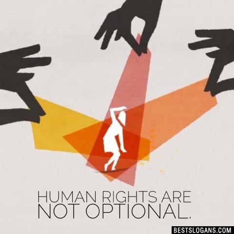 Human rights are not optional.
