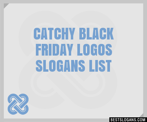 30 catchy black friday logos slogans list taglines
