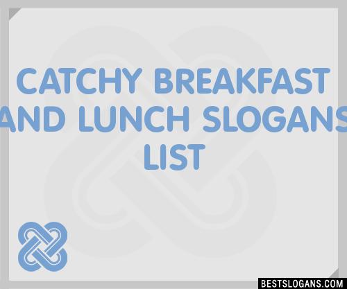 breakfast slogans