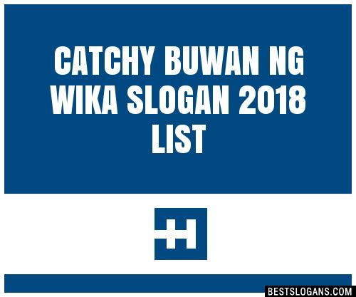 30+ Catchy Buwan Ng Wika 2018 Slogans List, Taglines