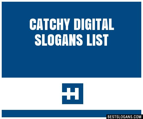 30 catchy digital slogans list taglines phrases amp names