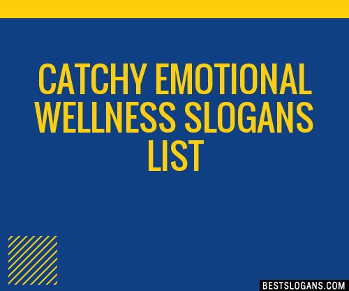 30+ Catchy Emotional Wellness Slogans List, Taglines, Phrases