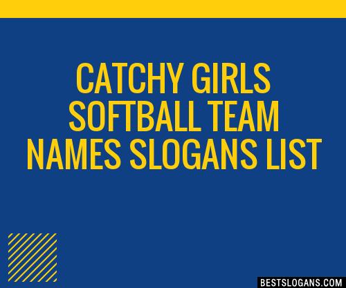 Cool girls softball team names