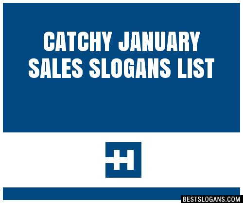 30 Catchy January Sales Slogans List Taglines Phrases