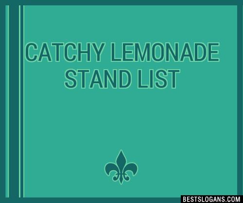 30+ Catchy Lemonade Stand Slogans List, Taglines, Phrases ...