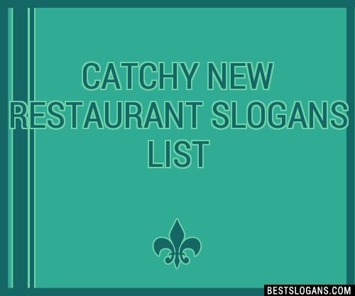 30+ Catchy New Restaurant Slogans List, Taglines, Phrases & Names 2018