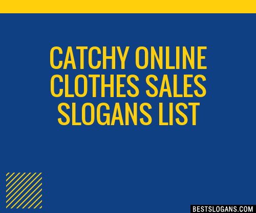 30+ Catchy Online Clothes Sales Slogans List, Taglines ...