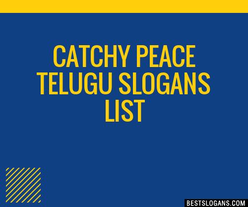 30+ Catchy Peace Telugu Slogans List, Taglines, Phrases