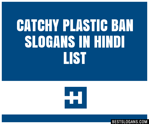 30 Catchy Plastic Ban In Hindi Slogans