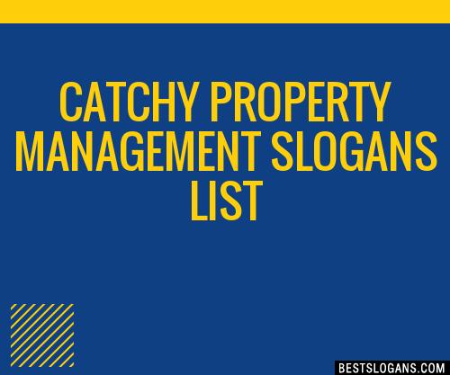 30  catchy property management slogans list  taglines